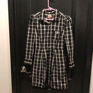 Juicy couture black/grey checked dress